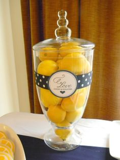 A Lemon and Navy Bridal Shower