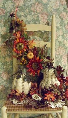 Fall chair decoration