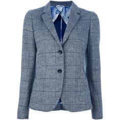 ALTEA Herringbone blazer ($630) ❤ liked on Polyvore