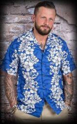Hawaiian Shirt Hula Blue