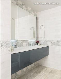 Bathroom tile feature