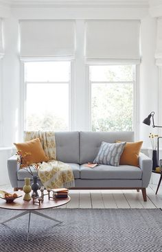 Mid Century sofa in the living room featured on NONAGON.style