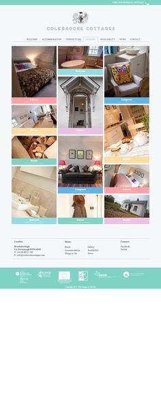 Colebrooke Cottages Website for Boutique Travel Destination