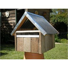 Weathered Timber Letterbox - Tin Roof - Markets Central