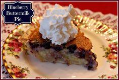 Sweet Tea and Cornbread: Blueberry Buttermilk Pie!
