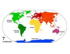 Map of the world with continents and oceans not labeled google les continents jeu de cartes gumiabroncs Gallery