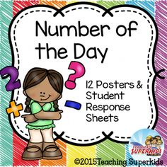 Number of the Day Posters for Daily Math Practice  FREEBIE