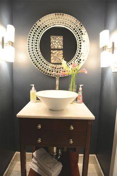 Inspiring Half #Bathroom Interior Design Ideas Blue Half Bathroom - Home Interior Decoration Design Room