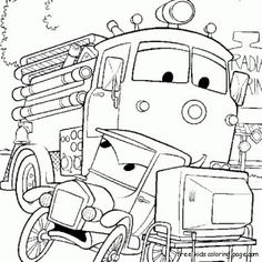 Free Disney Cars Coloring Pages | ... car 2 luigi and guido for kids - Free Printable Coloring Pages For