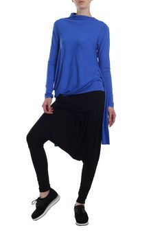 Modrý top s dlouhým rukávem Blouse, Long Sleeve, Sleeves, Women, Fashion, Moda, Long Dress Patterns, Fashion Styles, Blouses