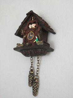 Black Forest Cuckoo Clock 1.399/8 miniature dollhouse 1/12 scale Reutter #ReutterPorzellan