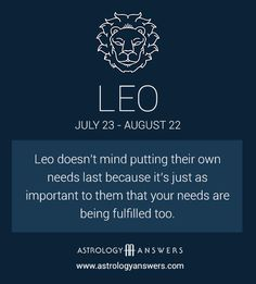 Leo - Putting Their Own Needs Last Leo Horoscope, Astrology Leo, Astrology Report, Leo Traits, Zodiac Traits, Leo Zodiac Facts, My Zodiac Sign, Leo Personality, All About Leo
