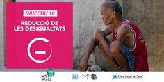 Reducció de les desigualtats: objectiu nº 10 de desenvolupament sostenible (ODS).