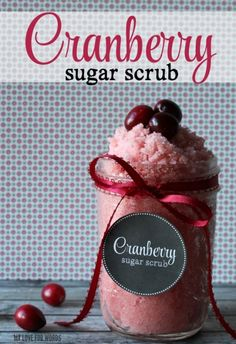 Cranberry Sugar Scrub Recipe and free printable label