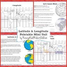 Get this free printable Mini Unit on Latitude and Longitude for kids ages 8-10…