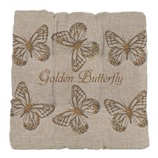 Custom Golden Butterfly Linen Tufted Chair Cushion, to find here: http://www.cafepress.co.uk/dd/101586747
