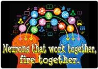 Neurons that work together, fire together - Print this poster and use it in your classroom.