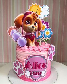 Paw Patrol Sky Cake, Bolo Do Paw Patrol, Torta Paw Patrol, Paw Patrol Cake Toppers, Paw Patrol Party, Paw Patrol Birthday Girl, Birthday Cake Girls, Cake Designs For Boy, Doctor Cake
