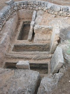 Egnazia, Messapian sarcophagus tombs, Puglia, Italy