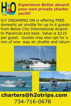 Great opportunity to sail Belize! Wide open calendar until July 1st!