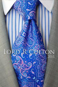 Lord R Colton Masterworks Tie - Marina Blue Cape Horn Silk Necktie - $195 New #LordRColton #NeckTie