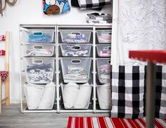 Creativity at work can take up space. Keep it organized with ALGOT mesh baskets.