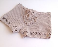 beige short - Beach shorts - summer shorts - NATURAL cotton - crochet shorts - girls - teens - women clothing senoaccessory on Etsy, 34,90 $