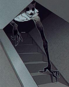 Home / Twitter Dark Creatures, Mythical Creatures Art, Fantasy Creatures, Creepy Drawings, Dark Art Drawings, Wolf Drawings, Dark Art Illustrations, Monster Concept Art, Monster Art