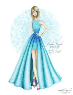 angelaaasketches: I updated my Taylor Swift fashion illustration with a background :) Here's the link to the video of me drawing it :https://www.youtube.com/watch?v=uIQk-sfDMmY