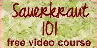 Fermentation Information and Supplies Needed for Making Sauerkraut
