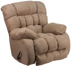 Flash Furniture WM-9200-532-GG Contemporary Softsuede Taupe Microfiber Rocker Recliner