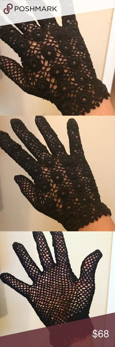 The most fab gloves you'll ever see ❤️ Vintage (or antique...kind of on the cusp) crochet gloves. Absolutely gorgeous and flawless. Approx a size 7❤️ Vintage Accessories Gloves & Mittens
