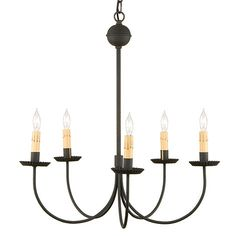 A Uniquely Primitive Chandelier Option For Those Customers Who Simple Lighting Choices The