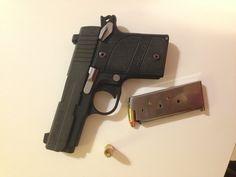 Sig Sauer P938. -- 9mm  Hornady: Zombie Ammo.