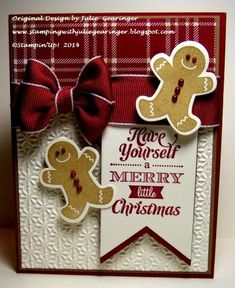 PPA230 Merry Gingerbread Men by Julie Gearinger - Cards and Paper Crafts at Splitcoaststampers