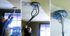 Man Removes Ugly Popcorn Ceiling In Just Seconds… With Zero Mess - http://lightersideofrealestate.com/toolbox/home-improvement/man-removes-ugly-popcorn-ceiling-in-just-seconds-with-zero-mess#utm_sguid=157526,65bc5571-b88b-653b-d41f-bb2b68d57d04