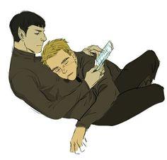 Star Trek - James 'Jim' Kirk x Commander Spock - Spirk<<<<for the record, I ONLY ship Spirk as a BROTP or as Moirails <> but not as a romantic couple New Star Trek, Star Wars, Stark Trek, Star Trek Reboot, Spock And Kirk, Star Trek Movies, Starship Enterprise, Star Trek Ships, Nerd Love