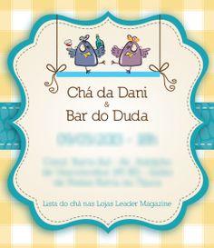 Cha Bar, Weeding, Chai, Decorative Plates, Graphic Design, Couple Shower, Invitations, Parties, Casamento
