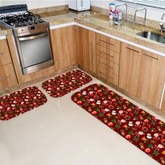 Kitchen Cabinets, 1, Home Decor, Products, Red Kitchen, Vivid Colors, Home Accessories, Design Trends, Interiors