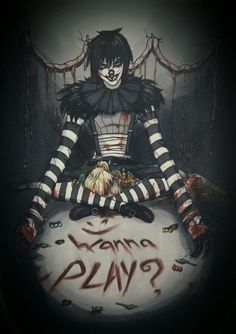 ''Wanna play?'' ;)  Laughing Jack