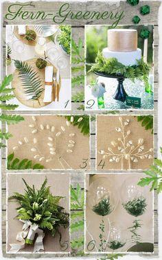 Fern Greenery Wedding Ideas Wedding Decorations, Wedding Ideas, Table Decorations, Fern Wedding, Ferns, Floral Arrangements, Greenery, Home Decor, Rose Flower Arrangements