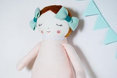 First baby doll stuffed rag doll sleeping doll linen toys
