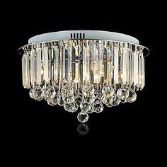 Flush Mount Luces LED del metal cristalino de moda moderna – USD $ 239.99