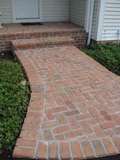 Take a look at this important graphic as well as look at the offered information and facts on Landscape Steps Brick Steps, Brick Pathway, Paver Walkway, Front Walkway, Driveway Landscaping, Landscaping Ideas, Walkway Ideas, Outdoor Landscaping, Brick Porch