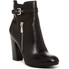 14th & Union Raina Leather Bootie (75 CAD) ❤ liked on Polyvore featuring shoes, boots, ankle booties, ankle boots, black, black leather bootie, high heel ankle boots, black leather ankle booties, leather ankle boots and black high heel boots