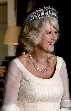 Camilla with Cambridge Lovers Knot tiara This is what she wanted all the time is Diana's tiara, her husband and she also may have taken her life!!!
