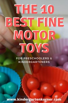 Learn more about the 10 Best Fine Motor Toys for Preschoolers and Kindergarteners to work on fine motor skills. These hands-on toys incorporate fine motor play with learning! #finemotorskills #finemotorplay #finemotor #finemotordevelopment #kindergarten #preschool #handsonactivities #stem Fine Motor Activities For Kids, Motor Skills Activities, Hands On Activities, Therapy Activities, Fine Motor Skills, Toddler Activities, Learning Activities, Stem Activities, Kindergarten Crafts
