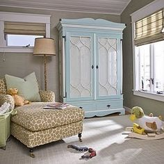 The Armoire and Chaise lounge can stay with baby for quite some time... Classic  www.lacasabebe.com