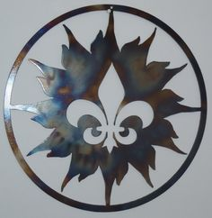 Hey, I found this really awesome Etsy listing at https://www.etsy.com/listing/102844347/fleur-de-lis-and-sun-metal-art-round