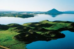 Lake Myvatn, Iceland - breeding ground for birds. Geysers, hot springs, bubbling pools, nature bath/spa, volcanic craters.